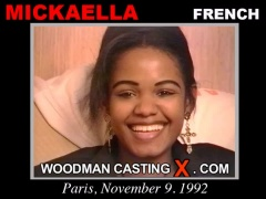 Access Mickaella casting in streaming. Pierre Woodman undress Mickaella, a French girl.