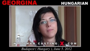Download Georgina  casting video files. Pierre Woodman undress Georgina , a Hungarian girl.