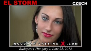 Access El Storm casting in streaming. A Czech girl, El Storm will have sex with Pierre Woodman.