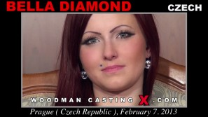 Download Bella Diamond casting video files. Pierre Woodman undress Bella Diamond, a Czech girl.