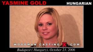 Check out this video of Yasmine Gold having an audition. Erotic meeting between Pierre Woodman and Yasmine Gold, a  girl.